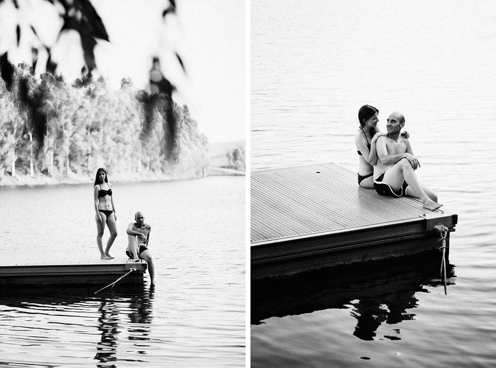 Fotografías preboda en el lago